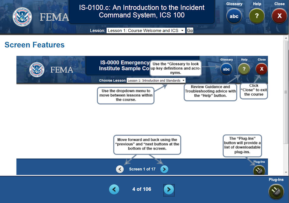 FEMA IS 100 Online Course Eastern Division NSP